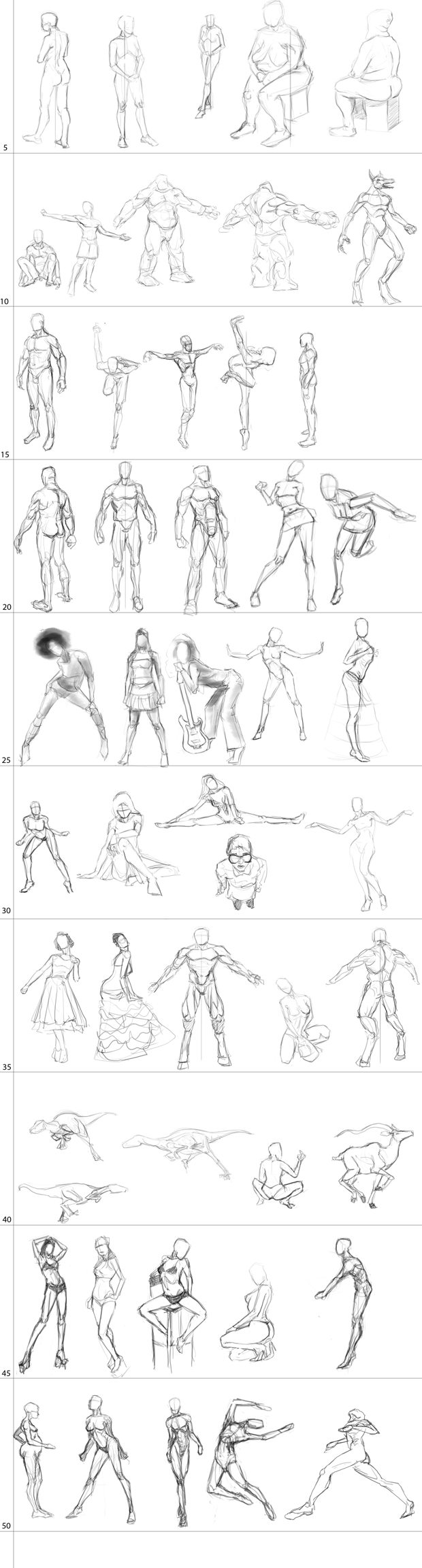 "Spartan Camp #36 - 50 gestures + Optional Study of ""Body Building"""