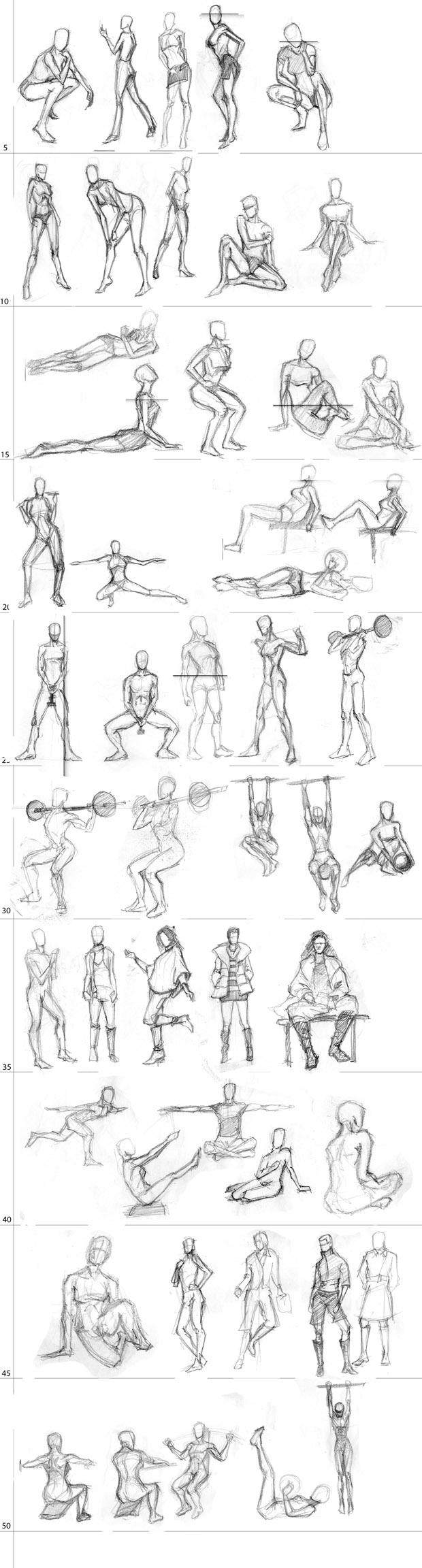 "Spartan Camp #28 - 50 gestures + Optional Study of Action ""Dancing"""