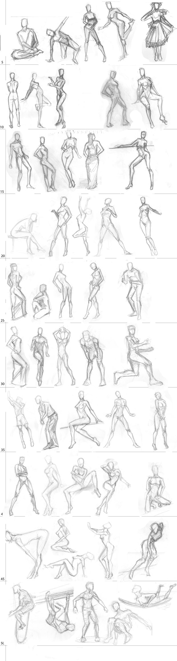 "Spartan Camp #25 - 50 gestures + Optional Study of ""Sitting"""