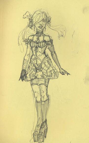 Gothic Lolita Sketch