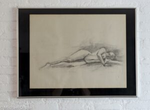 Female figure drawing charcoal