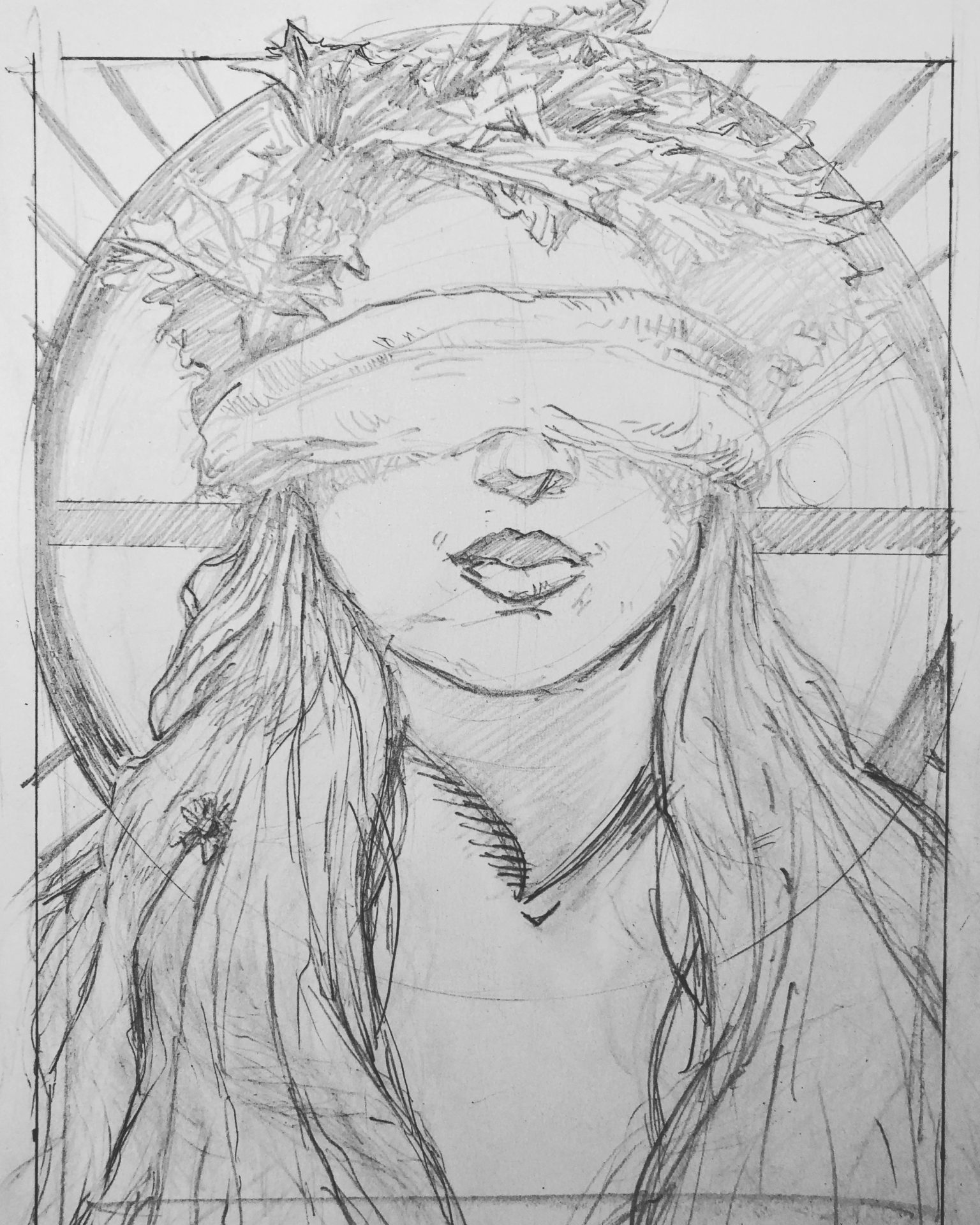 Spring Lady Sketch